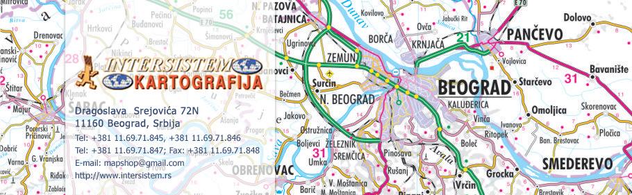 cela karta srbije Karta Srbije   Mapa Srbije   Zidne karte cela karta srbije