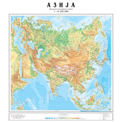 fizicko geografska karta srbije Karta Srbije   Mapa Srbije fizicko geografska karta srbije