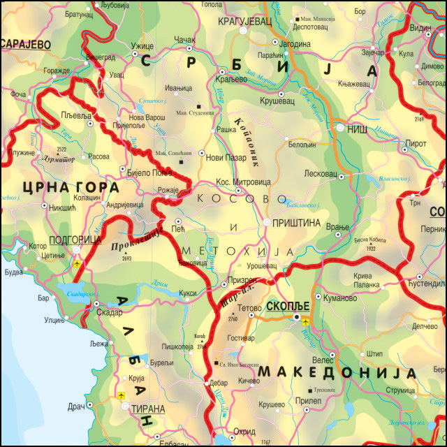 Geografska Karta Srbije