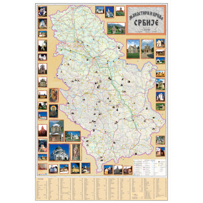 mapa srbije sa manastirima Karta Srbije   Mapa Srbije mapa srbije sa manastirima
