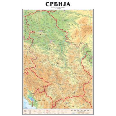 mapa republike srbije Karta Srbije   Mapa Srbije mapa republike srbije