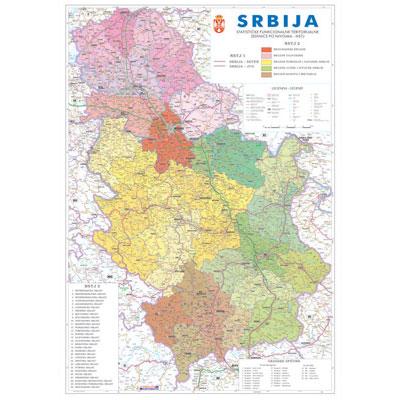 cela karta srbije Tematska zidna karta cela karta srbije