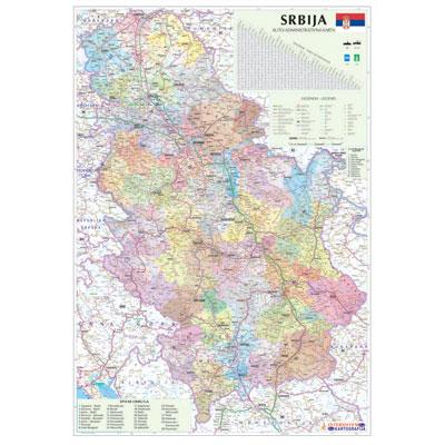 Karta Srbije Mapa Srbije