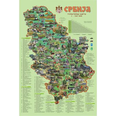 karta srbije manastiri Karta Srbije   Mapa Srbije karta srbije manastiri