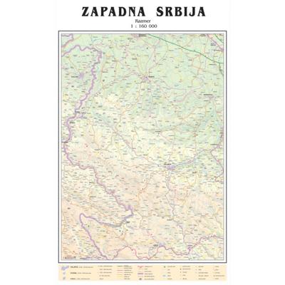auto karta zapadne srbije Karta Srbije   Mapa Srbije auto karta zapadne srbije
